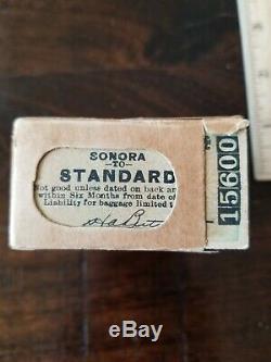 100 Unused California 1921 Sierra Railway Company Tickets in Original Box #1
