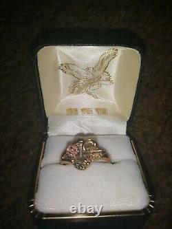 10k rose gold Harley Davidson ring with Original Box Size 7