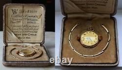 1915 WALTHAM Transitional Ladies 6/0 WATCH GF Case Original Box Warranty card