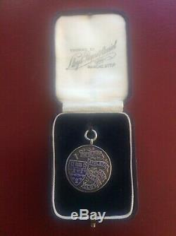 1926 Silver Enamel Salford Athletics & Cycling Club Medal Fob in Original Box