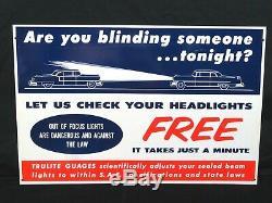 1950's TRULITE Headlights and GAUGES ADVERTISING DISPLAY NEW in ORIGINAL BOX