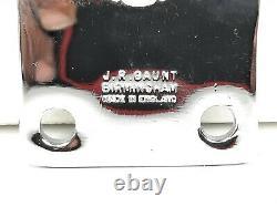1950s-60s VINTAGE J. R. GAUNT WALES ENAMEL CAR BADGE ORIGINAL PRESENTATION BOX