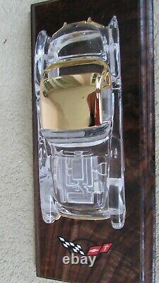 1957 Chevy Corvette crystal car Franklin Mint 24K gold trim original boxes COA