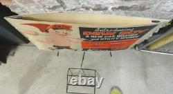 (1958) 2-sided DEW-BOY SPONGES In-Store ADVERTISING STORE DISPLAY withORIGINAL BOX
