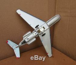 1960s American Airlines Friction Toy 727 Jet Airliner ORIGINAL BOX JAPAN