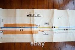 1978 Arundel Original Signalling Signal Box Sidings Railway Plan Diagram