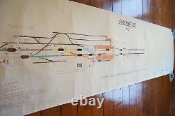 1981 Chichester Original Signalling Signal Box Sidings Railway Plan Diagram