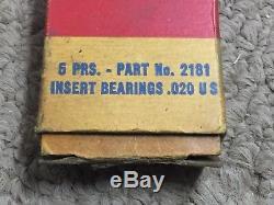 5prs NOS Whizzer. 020 Insert Bearings In Original Box