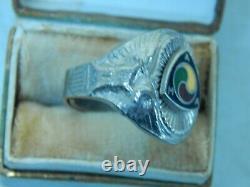 AMA Vintage RARE Motorcycle Ring 1936-46 Adjustable With Original Box