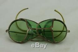 American Spectacle Side Shield Motorcycle Goggles Original Box Optical Steampunk