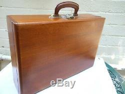 Antique Australian Cedar Carry Case Box Chest Suitcase Travel Case w Handle 20's