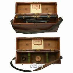Antique BUFF & BUFF'ENGINEERS 18 WYE LEVEL' TRANSIT in Original DOVETAIL BOX