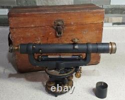 Antique David White Instrument Co Surveyors Transit Level, Original Box, vintage