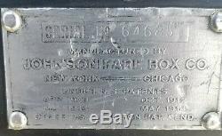Antique Johnson Trolley Fare Box Model 18 original working condition