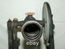 Antique K&E Keuffel & Esser Sight Level Survey Transit & Original Wood Box