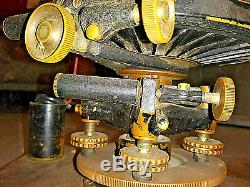 Antique Vintage C. L. Berger & Sons Astronomical Transit And Original Wood Box