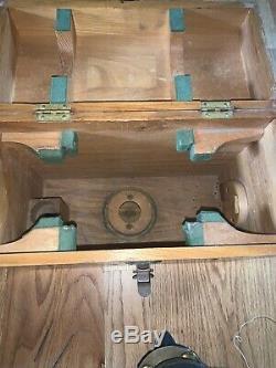 Antique Vintage David White Surveyor Transit Level Original Wooden Box #38507