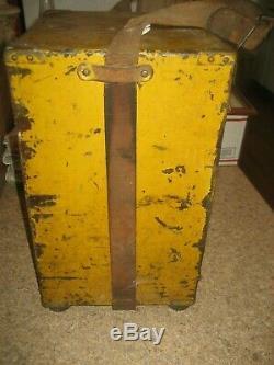 Antique W. & L. E. Gurley Ny Surveyors Transit W-original Compsition Travel Box