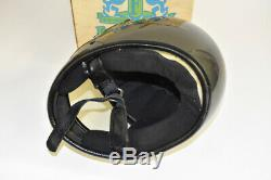 Arthur Fulmer AF50 Eagle II Motorcycle Helmet Silver Metal Flake Original Box