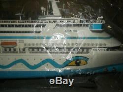 Beautiful AIDA VITA CRUISE OCEAN LINER SHIP MODEL HUGE 33 ORIGINAL BOX