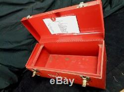 Bethlehem Ship Yard Red BETH SHIP First Aid TOOL BOX No contents 18 x 9 x 8