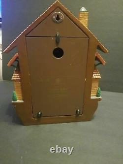Bradford Exchange Golden Spike Action/Sounds Cuckoo Clock MINT IN ORIGINAL BOX