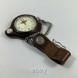 Bulova Harley Davidson Swiss Pocket Watch 99621-94V Original Box Leather Pouch