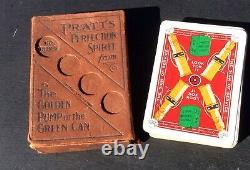 C1910 Lovely Vintage Pack Pratts Playing Cards With Original Box No Jokers