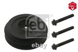 Crankshaft Pulley fits FORD TRANSIT 2.2D 2006 on Belt 1731716S1 1731716 Febi New