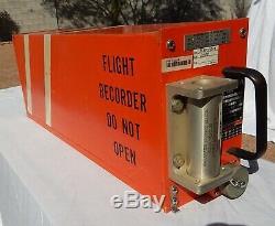 Delta Commercial Airliner Cockpit Pilot Flight Data Recorder BLACK BOX (Orange)