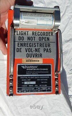 Delta L1011 Airliner Cockpit Pilot Flight Data Recorder BLACK BOX (Orange)