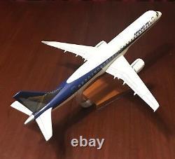 Embraer 190 Model Aircraft / Airplane Wood Desk Model & Original Box