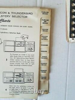 FORD Dealership Salesman Album 1960 SHOWROOM Color & Upholstery Original w BOX