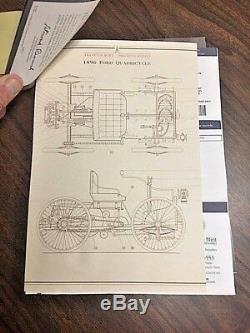 Franklin Mint 1896 Ford Quadricycle Replica with Case in the Original Boxes
