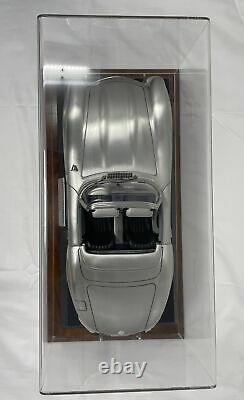 Franklin Mint Pewter Mercedes-Benz 300SL Comes In Original Box w Custom Showcase