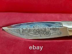 HARLEY DAVIDSON, BUCK KNIFE V-TWIN PANHEAD #278 with ORIGINAL BOX +