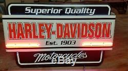 Harley Davidson Genuine Dealer Motorcycles Neon Sign in Original Box