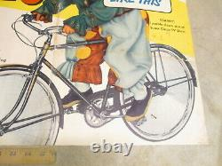 Kelloggs cereal box 1950s Mary Hartline Super Circus clown Monark bicycle poster