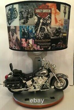 King America Harley-Davidson Heritage Softail Lamp Nightlight Sound Original Box