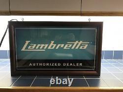 LAMBRETTA Scooter DEALER SIGN Original Lighted Box Sign