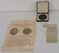 LUSITANIA Sinking German Propaganda Medal by Karl Goetz Original Box & Leaflet