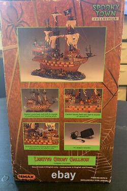 Lemax Spooky Town Lighted Ghost Galleon 2003 #35781 Retired Rare Tested