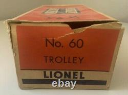 Lionel No. 60 Lionelville Rapid Transit Trolley withoriginal box and instructions