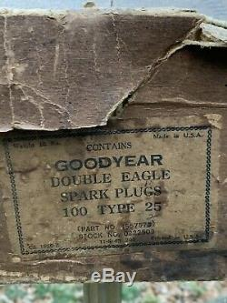Lot Of 60 NOS Vintage GOODYEAR DOUBLE EAGLE Spark Plugs TYPE 25 In Original Box