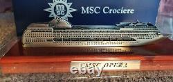 MSC Opera Cruise Ship Metal Model In Original Box