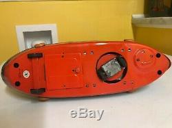 Masudaya Vintage Neptune Tug Boat. All Actions Work Perfectly With Original Box