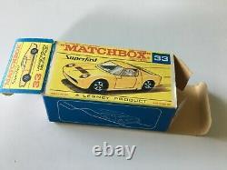 Matchbox Transitional Superfast #33 Lamborghini Miura P400 Original F Box Lot 66