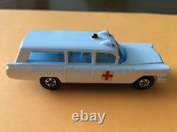 Matchbox Transitional Superfast #54 Ambulance Silver Trim Original G Box Lot 55