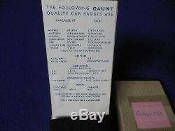 NOS 1950's-1960's J. R. Gaunt Gibraltar Car Badge Badge Original Presentation Box