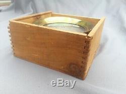 New Old Stock Schaeffer & Budenberg Steam Pressure Gauge In Original Wood Box